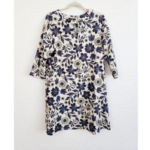 Beige by eci Floral Keyhole Shift Dress Pockets